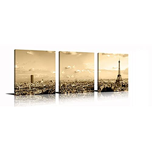 Modern Brown and Turquoise Canvas Wall Art: Amazon.com