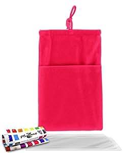 """Funda  LG L3 [""""Cocoon""""] [Rosa caramelo] de MUZZANO + 3 Pelliculas de Pantalla """"UltraClear"""" + ESTILETE y PAÑO MUZZANO REGALADOS - La Protección Antigolpes ULTIMA, ELEGANTE Y DURADERA para su LG L3"""