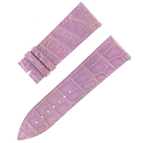 Ladies Franck Muller - Franck Muller 25D 24-22mm Genuine Alligator Leather Shiny Lavender Watch Band