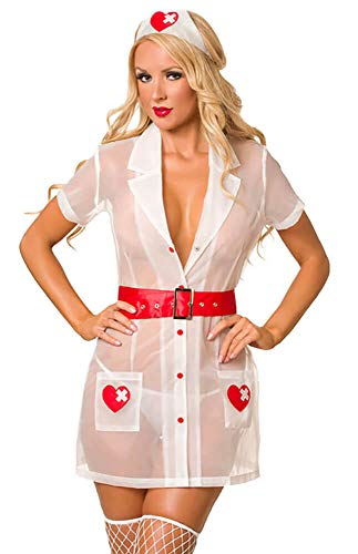Velvet Kitten Nurse White Heartstopper Sexy Costume Set for Women 3262 Large]()