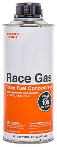 Race Gas 100016 Premium Race Fuel Concentrate Increases Gasoline Up To 105 Octan