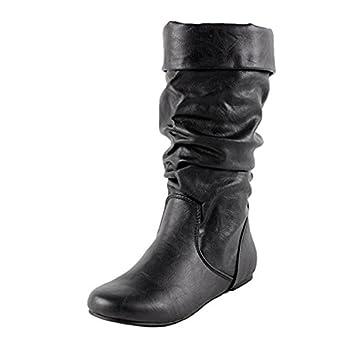 Amazon.com: IMAGENES [Comfortable Flat Mid Calf]: Clothing