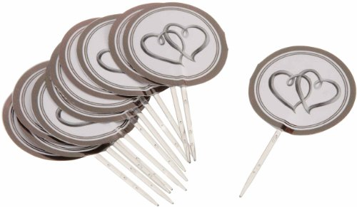 Wilton 2113-0333 Double Heart Fun Pix, 12 (Wedding Cake Stamp)