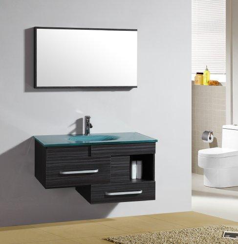 Badezimmermöbel - Set Badmöbel Alicante - Spiegel - Waschbecken - Unterschrank - M-79032/1197