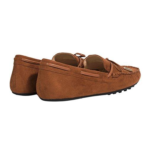 Parfois Zapatos Mocassim - Mujeres Camel