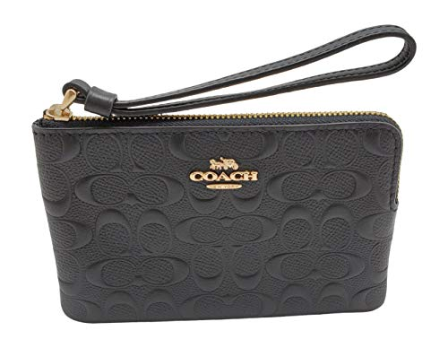 Coach-F67555-Signature-Leather-Corner-Zip-Wristlet