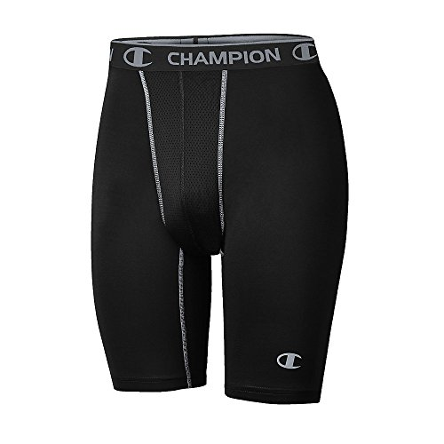 Champion Gear153; Men's Power Flex Compression Shorts_Black/Concrete_XL