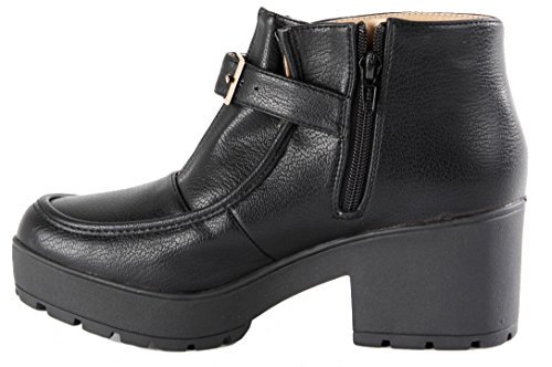 BOOTIES ANKLE WINTER HIGH WESTERN MID 3 HEELED COWBOY Style BOOTS BLOCK HEEL Black 8 CUBAN WOMENS SIZE LADIES 36 wxPnIYPp