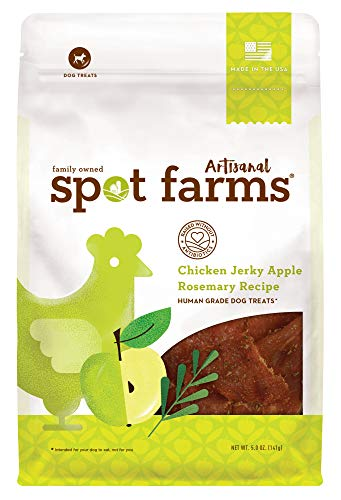 - Spot Farms Artisanal All Natural Human Grade Dog Treats, Apple Rosemary, 5 Ounce