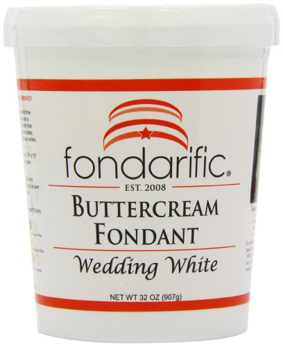 White Chocolate Buttercream Frosting (Fondarific Wedding White Fondant, Buttercream, 2 Pound)