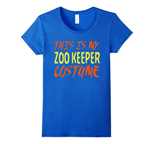 [Women's This is My Zoo Keeper Costume Halloween T Shirt Large Royal Blue] (Zookeeper Costumes For Womens)