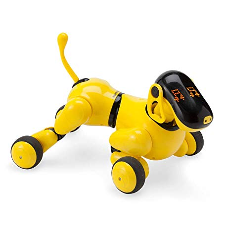 HearthSong Gizmo The Voice Controlled Robotic Dog - Electronic Pet Toy for Kids - 13 L x 5 W x 7'' H, Yellow by HearthSong (Image #2)