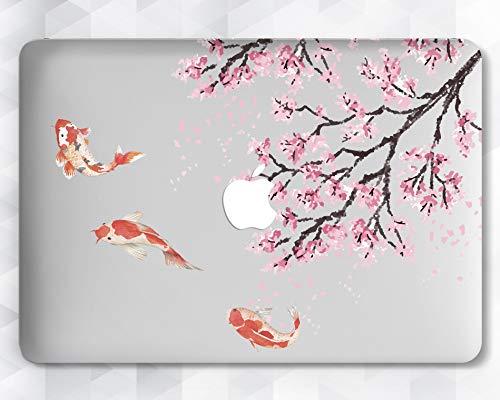 Floral Sakura Goldfish Case For Apple Macbook 12 Air 11 13 Pro 13 15 2016/2017 Inch Retina Display Touch Bar