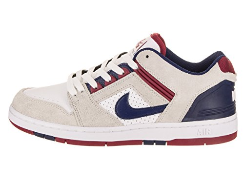 new styles online NIKE Men's SB Air Force II Low Skate Shoe White / Blue Void-red Crush sale new styles under $60 online discount lowest price n7tgh