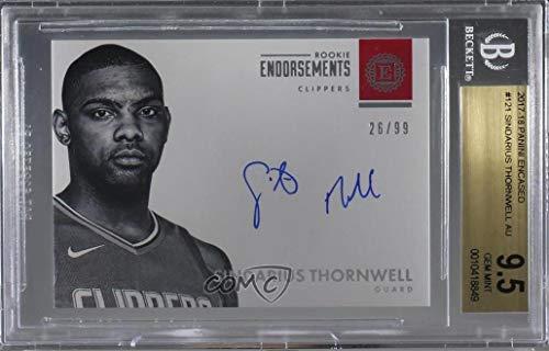 - Sindarius Thornwell Graded BGS 9.5 GEM MINT #26/99 (Basketball Card) 2017-18 Panini Encased - [Base] #121