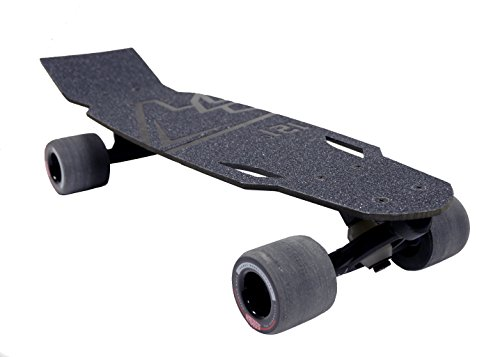 121C Boards Rover Carbon Fiber Skate Small Cruiser Board (Pure Carbon - Hawgs Wheels) (Randal Longboard Skateboard Truck)