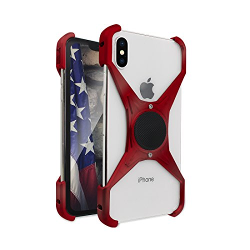 Rokform [iPhone X] Predator Aerospace Aluminum Minimalist Magnetic Case (RED) by Rokform