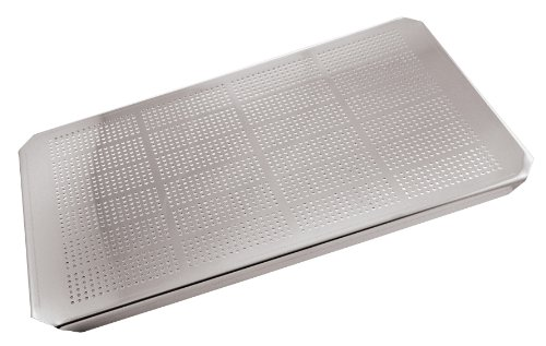 Paderno World Cuisine 12 3/4 inches by 7 1/8 inches Stainless-steel Drainer Plate for Hotel Pan - 1/3