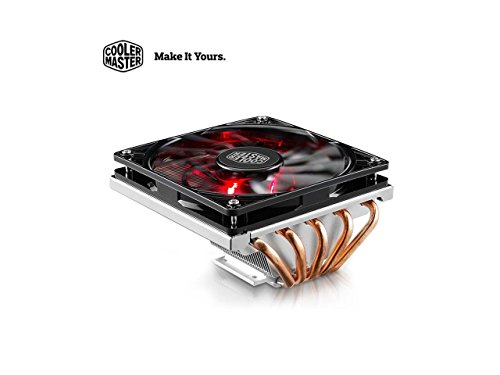 Cooler Master GeminII M5 LED - 2U Low Profile CPU Cooler with 5 Direct Contact Heatpipes & XtraFlo 120 Slim Fire Red LED PWM Cooling Fan for Intel AMD