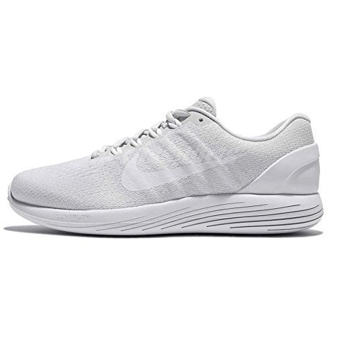Nike Lunarglide 9 Pure Platinum/White/White Womens Running Shoes Size 7.5