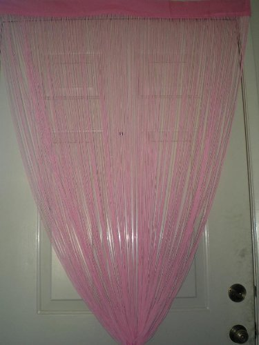 Pink String Curtain for Windows, Wall Décor , Door Divider and Party Event Review