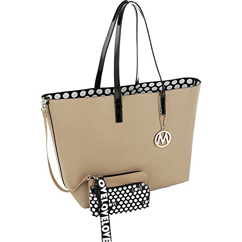 MKF Collection by Mia K. Farrow Taylor Reversible Shopper Tote with Wallet Pouch