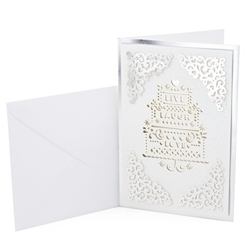 Hallmark Signature Wedding Greeting Card (Live Laugh Love)