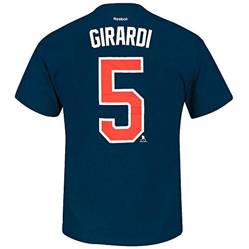 Daniel Girardi New York Rangers NHL Reebok Men Navy Blue Player Name & Number Jersey T-Shirt (L)