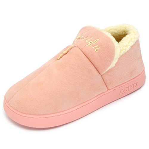 Moodeng Huisslippers Voor Dames En Heren Antislip Warm Traagschuim Dikke Katoenen Binnenschoenen Indoor Outdoor Light Pink