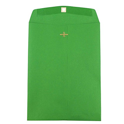 JAM PAPER 9 x 12 Colored Envelopes with Clasp Closure - Green Recycled - - Envelopes Mailing Recycled