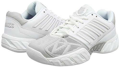 Femme EU White Performance K Silver 3 Swiss Bigshot Blanc Chaussures Light de Tennis Carpet ZWwSzqTp