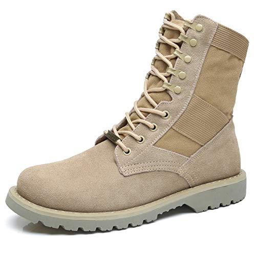 Shukun Herren Stiefel Männer Schuhe Herbst Desert Wasserdicht Atmungsaktive Land Kampf Militärstiefel Hohe Leinwand Leinwand Werkzeug Schuhe