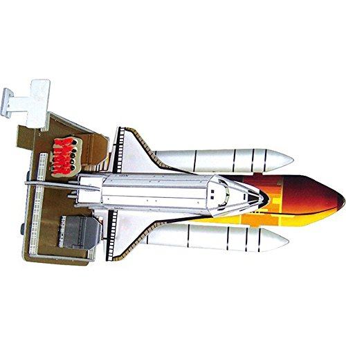 Puzzle Jigsaw Toy 3D Assemble Paper Space Shuttle Education Game Gift For Kids