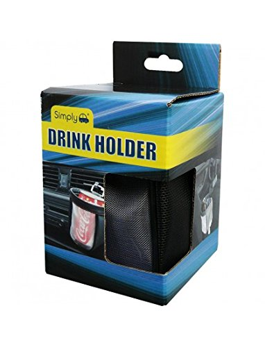 etc. Bottles Accommodates Cups Cans Diameter up to 9cm Simply DH02 Vehicle Fabric Drink Holder and Storage Pouch Glass Two Fitting Options