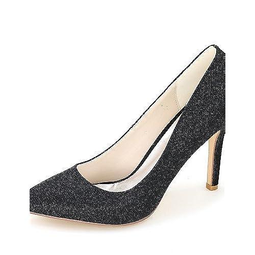 Ggx femme Chaussures Paillettes Printemps été automne Bout Pointu talons  Mariage fête 674e3f8296b9