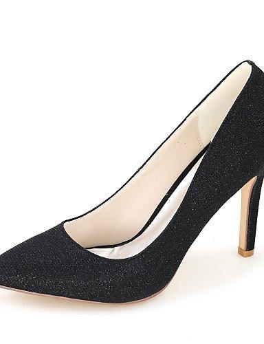 GGX/Damen-Schuhe Glitzer Frühjahr/Sommer/Herbst Spitz Zulaufender Zehenbereich Heels Hochzeit/Party & Abend/Kleid 3in-3 3/4in-black