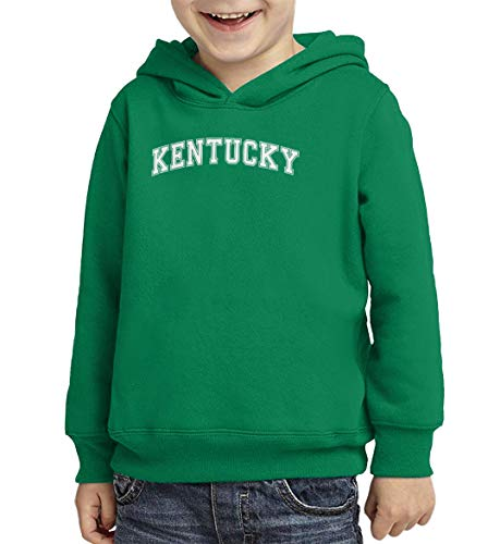 Kentucky - State Proud Strong Pride Toddler/Youth Fleece Hoodie (Kelly, X-Large (Youth))