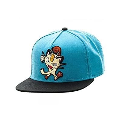 Superheroes Brand Pokemon Meowth Color Block Snapback Hat/Cap By