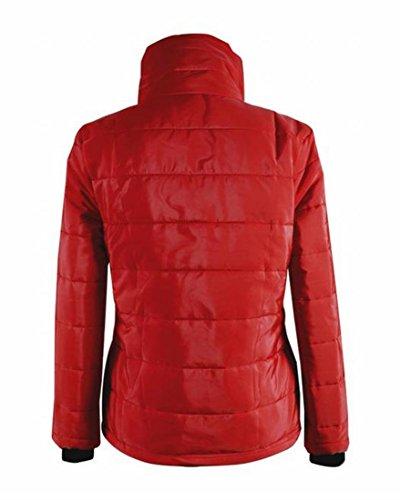 Rosso Sexy Collo Sottile Donne Eku Outwear Alto Xl Delle Solido Breve Irregolare YZq8R8