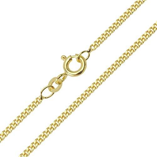 Chaîne maille gourmette en or jaune 333 8 carats largeur :  2.10 mm unisexe goldkette collier nOUVEAU