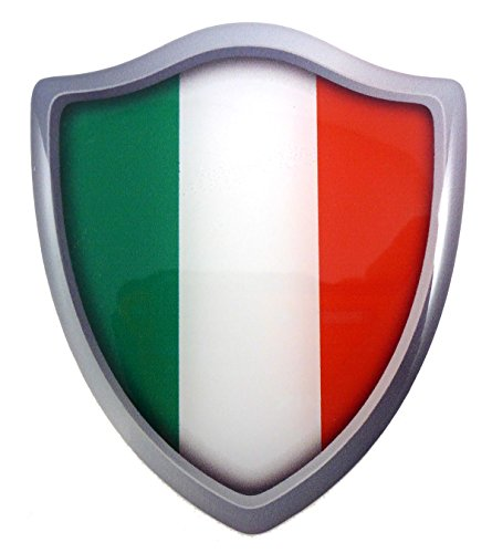 - Italy Italian flag Shield Domed Decal 3D Look Emblem Resin car sticker 2.6