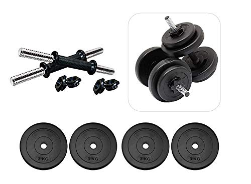 Gym Insane Equipment PVC 14 Inches Dumbbell Rod Workout Accessories Combo Set for Exercise and Fitness for Men and Women (2.5 kg x 4= 10 kg)
