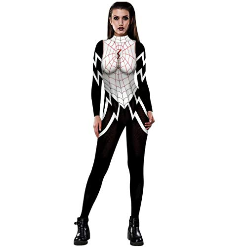Tsyllyp Venom Spiderman Halloween Costume Adult Cosplay Women Bodysuit Cat Suit]()