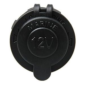 Cigarette Lighter Socket, TEQStone Waterproof Marine Grade 12V DC Outlet for Motorbike Car Scooter