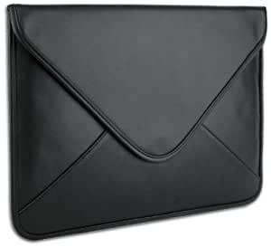 """Black Generic Leather Laptop Sleeve Envelop Case fit Apple MacBook 13"""" and 13 - 14 inch Notebook Computer"""
