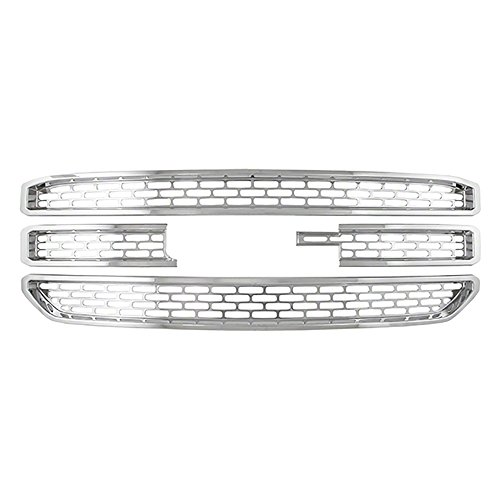 Grille Cover for GMC Yukon Front Insert Overlay -Snap On - Chrome Gmc Grill