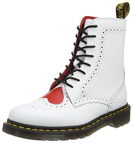 Dr. Martens Women's Bentley Ii Heart Brogue 8-eye Boot (8 F(M) UK / 10 B(M) US) - White Boots With Heart