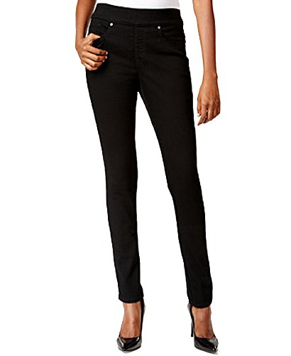 Girls Slim Straight Jean - Style & Co. Pull-On Slim Straight-Leg Jeans (Black Rinse, M)