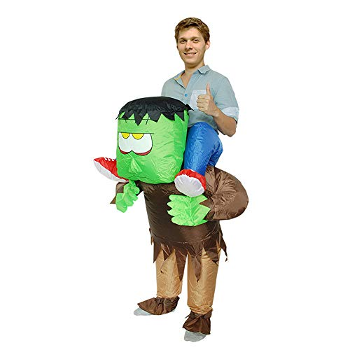BaronHong Piggyback Adult Inflatable Clothing Halloween Costume Carnival Party(Frankenstein,M) -