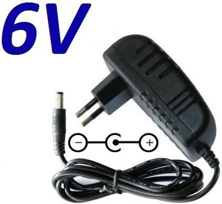 CARGADOR ESP ® Cargador Corriente 6V Reemplazo SAW-0602000 Recambio Replacement